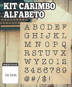 Kit Carimbo Alfabeto Maiúsculo 1x1cm