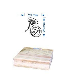 Carimbo Botão Costura 2,5x2,5