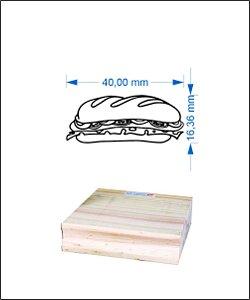 Carimbo baguete 4,0 x 2,0