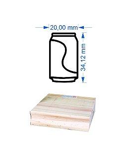 Carimbo Lata Refrigerante 2,0x3,5cm