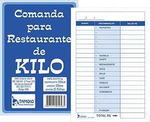 COMANDA PARA RESTAURANTE POR QUILO 50FLS C/20 BLS