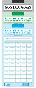 CARTELA RIFA COM 50 NOMES -50 UND