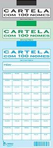 CARTELA RIFA COM 100 NOMES 1 Und 2 Und 4 Und