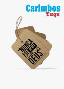 Carimbos para Tags ( Nunca for sorte Sempre for Deus)