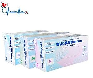 Luva Nitrílica Azul Procedimento SEM TALCO com 100 un Tamanho Pequena - Nugard