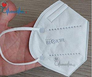 Máscara KN95 Respirador Proteção Reutilizável Profissional Respiratória PFF2 - Blok3r c/ Registro na Anvisa