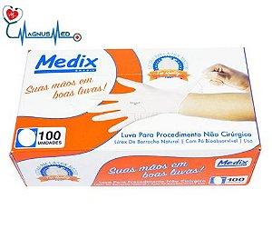 Luva p/ Procedimento Látex Com Pó Tamanho P - Medix