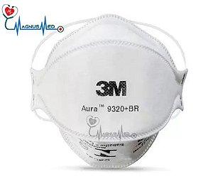 Máscaras Pff2 Aura 9320+BR Respirador Descartável sem válvula - 3M