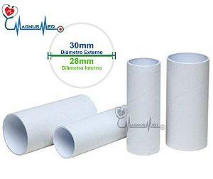 Bocal Tubete Para Espirômetro Descartável 70mm 28x30mm - Pct 100 un