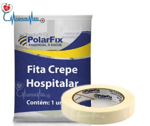 Fita Crepe Hospitalar 16mm x 50m crepada - Polar Fix