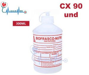 Frasco de Nutrição Enteral 300ml Caixa 90 und