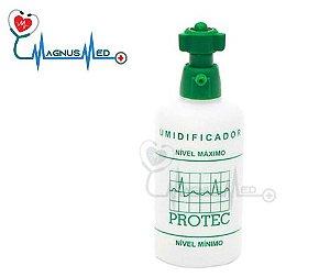 Umidificador de Oxigênio ( O2 )  250ml rosca metal CÓD. 005001- Protec