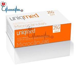 Microcânulas 25G x 50mm caixa 24 unidades - Uniqmed