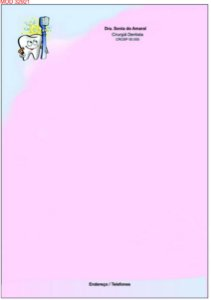 05  receituários coloridos (500 rec.) odontologicos para dentistas PERSONALIZADOS