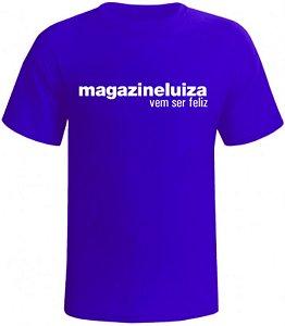 05 Camisetas básica em malha de algodão com logo (01 cor) estampado na frente, cada uma sai a 36,90 - frete grátis!