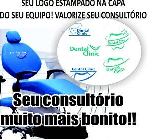 Capa colors em poliamida para equipo dentário com logo