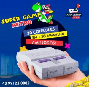 Mini Super Nintendo 7000 JOGOS e TV BOX