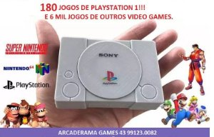 ARCADERAMA Mini Playstation 6000 jogos