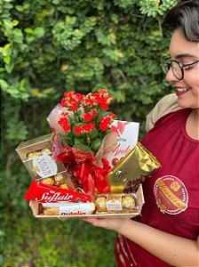 Bandeja de Chocolates com Flor