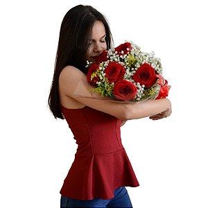 Buquê de Rosas Tradicional Médio