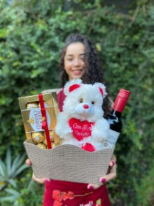 Kit Pelúcia, Vinho e Chocolate