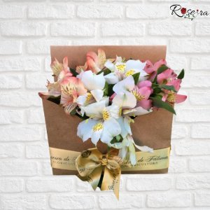 Box Flowers Alstromelias