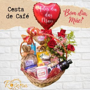 """Cesta de Café """"Bom dia, Mãe!"""""""