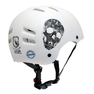 Capacete Infatil Kraft Bike Branco PP Skate NBR16175
