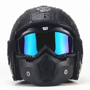 capacete personalidade motocicleta elétrica 3/4