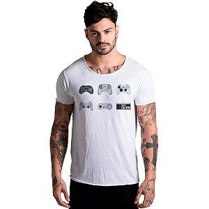 Camiseta Corte à Fio Joss VideoGame Branca