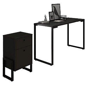 Conjunto Mesa Escrivaninha e Gaveteiro 2 Gavetas