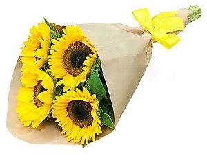 Bouquet  de Girassóis no kraft