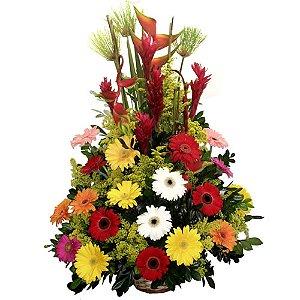 Arranjo Tropical de Flores Finas