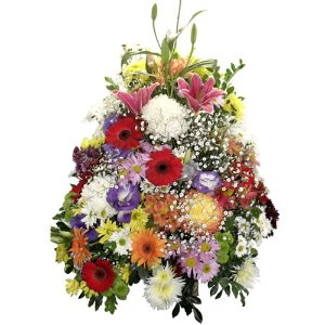 Cesta grande de flores do campo