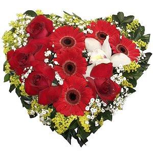 Coração especial com Orquidea