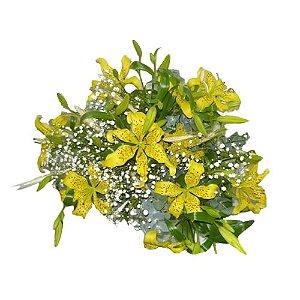 Bouquet de lirios amarelos