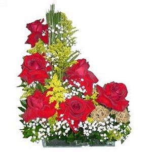 Arranjo de rosas colombianas