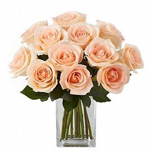 Jarra de vidro de rosas Cha