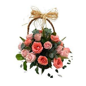 Cestinha de rosas