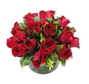 Aquário de rosas vermelhas