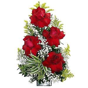 Ikebana de rosas colombianas