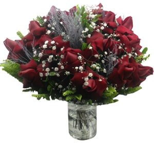 Bouquet importado com tempestade prata
