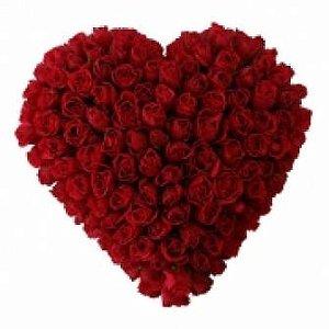 Coração rosas vermelhas apaixonantes GG