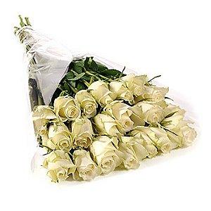 Bouquet 20 rosas brancas sem folhagem