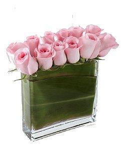 Retângulo de rosas rosa