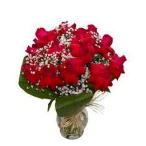 Jarra de rosas colombianas