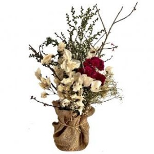 Juta de Flores brancas