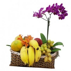Frutas com Orquídea Plantada