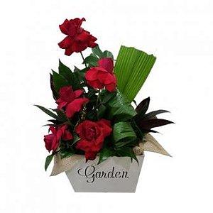 Caixa Garden de Rosas Vermelhas