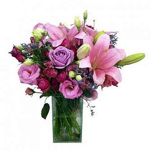 Jarra Mix de Rosas e lilás